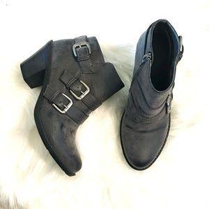 Crown Vintage Saint Buckle Ankle Booties